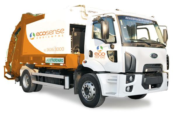 Ecosense Caminhão Compactador